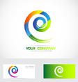 Spiral swirl logo vector image