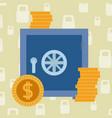 stronbox security money vector image