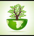 Tree inside the earth vector image vector image