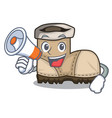 with megaphone working boots isolated on the vector image vector image