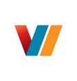 initial v slanted abstract symbol vector image