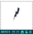 Thunder icon flat vector image