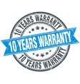10 years warranty vector image vector image