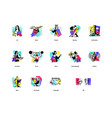 a set icons on theme art forms music vector image vector image