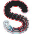abstract font letter S vector image vector image