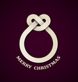 abstract paper knot christmas ball vector image vector image
