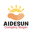 Aide Sun Design vector image vector image