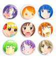 anime girls badges vector image vector image