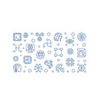 artificial intelligence outline horizontal vector image vector image