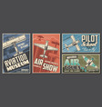 aviation museum flight school and air tour banner vector image vector image