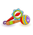 baby rattles icon vector image