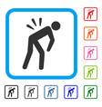 backache framed icon vector image vector image