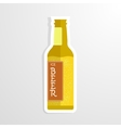 beer bottle cheers vector image