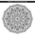 black mandala on white background vector image vector image