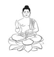 buddha the symbol of hinduism buddhism vector image