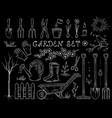 chalk spring garden set vector image vector image