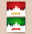 christmas designs with falling snow vector image vector image