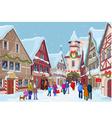 Christmas shopping street vector image