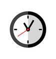 clock icon design on white background flat style vector image vector image