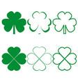clover leaf icons different on white background vector image