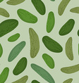 Cucumber seamless pattern background green vector image vector image