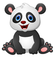 Cute baby panda cartoon vector image vector image