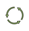 cycle arrows environment ecology line and fill vector image