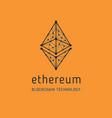 ethereum symbol icon vector image vector image