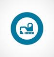excavator bold blue border circle icon vector image vector image