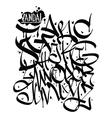 Font graffiti vandal vector image vector image