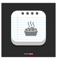food icons gray icon on notepad style template vector image