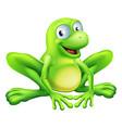 frog mascot vector image vector image