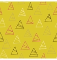 Geometric seamless pattern with triangles vector image vector image