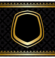 golden frame and decorations on black background vector image