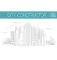 Great city map creator Outline version House vector image vector image