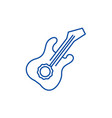 guitar line icon concept guitar flat vector image vector image