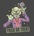 Halloween clown trick or treat