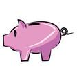 image cashbox - piggy bank or color vector image