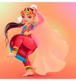 Indian dancer representing the veil of Maya vector image vector image