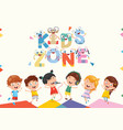 kids zone background design vector image