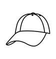 line cap casual textile style accessory vector image vector image