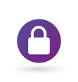 lock icon in circle privacy secure concept vector image vector image