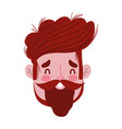 male face beard character portrait man isoated vector image vector image