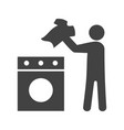 man doing laundry vector image vector image