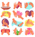 manicure manicured hands and manicuring vector image vector image