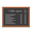menu board at a restaurant or cafe wooden frame vector image