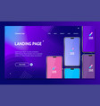 mobile phones concept card landing web page vector image