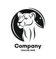 modern black lioness logo vector image vector image