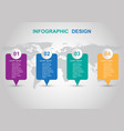 modern infographic design template with banners vector image vector image
