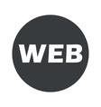Monochrome round WEB icon vector image vector image